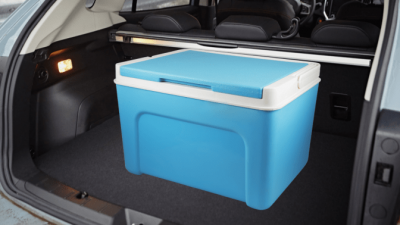 Organize Your Cleaning Car, Cooler in Trunk