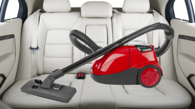 Organize Your Cleaning Car, Vacuum in Car