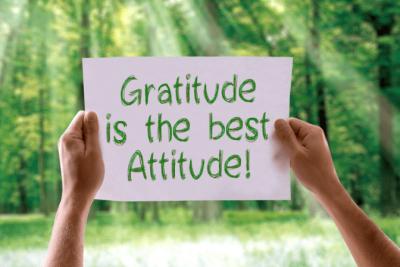 The Attitude of Gratitude, Gratitude is the Best Attitude Sign