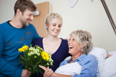 The Attitude of Gratitude, Hospital Visitors with Flowers