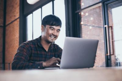The Attitude of Gratitude, Man on Computer