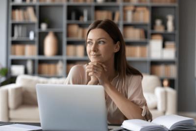 The Attitude of Gratitude, Woman on Computer