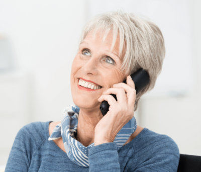 Business Partner Meetings, Woman Talks on Phone
