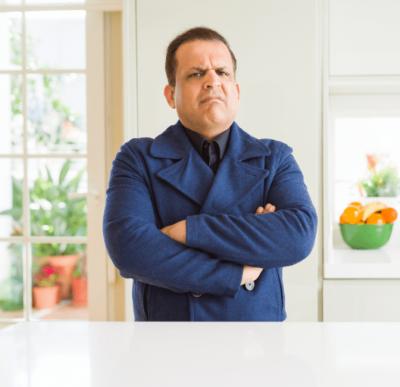 Customer Won't Pay, Angry Man