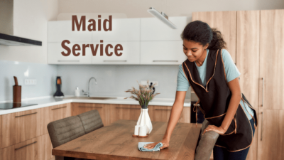 Housekeeping House Cleaning, Cleaning Table, Maid Service