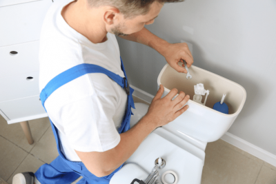 Housekeeping House Cleaning, Fixing Toilet