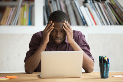 Partnerships Don't Work, Frustrated Man on Computer