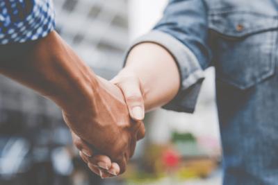 Partnerships Don't Work, Hands Shaking