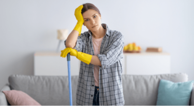Partnerships Don't Work, House Cleaner with Mop Thinking