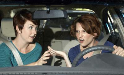 Partnerships Don't Work, Women Arguing in Car