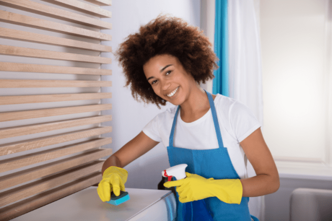 Local Cleaning Company, House Cleaner Cleans Furniture