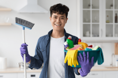 Overnight Success, House Cleaner With Broom