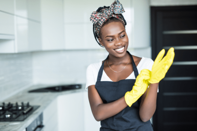 Rules For Bartering, House Cleaner With Gloves