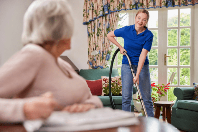 Talk To Your House Cleaner, House Cleaner Talks With Woman