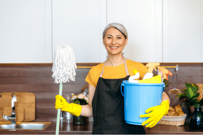 Talk To Your House Cleaner, House Cleaner With Mop