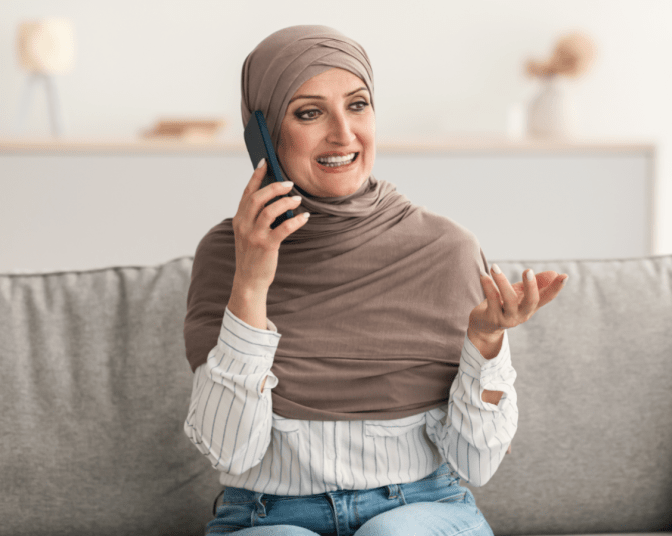 World's Greatest Cancellation Policy, Woman Talks on Phone