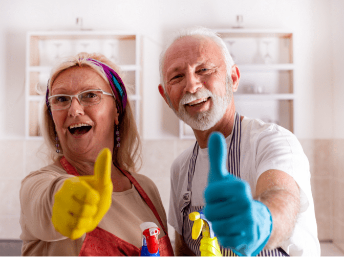 Explode Your Cleaning Business, Couple With Thumbs Up