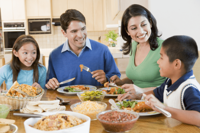 Non-Pinterest Pantry, Family Eating Dinner