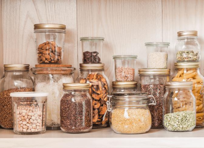 Non-Pinterest Pantry, Jars in Pantry