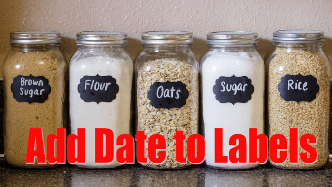 Non-Pinterest Pantry, Pantry, Add Date to Labels