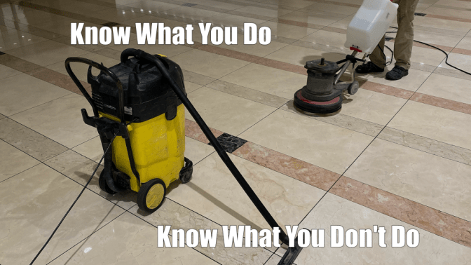 House Cleaning to Country Club Cleaning Equipment on Marble Floor